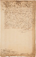 Autographs:Non-American, Frederick the Great of Prussia Document Signed ...
