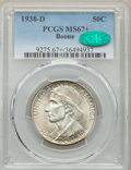 Commemorative Silver, 1938-D 50C Boone MS67+ PCGS. CAC. PCGS Population: (80/3 and 9/2+). NGC Census: (29/5 and 4/0+). CDN: $900 Whsle. Bid for p...