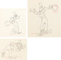 Animation Art:Production Drawing, Moving Day Goofy Production Drawing Group of 3 (Walt Disney, 1936).... (Total: 3 Original Art)