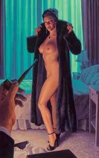 Greg Hildebrandt (American, b. 1939) Rendezvous at the Empire Acrylic on board 38 x 24 in. Sig