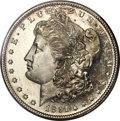 Morgan Dollars, 1891-S $1 MS65+ Deep Mirror Prooflike PCGS. CAC....