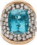 Estate Jewelry:Rings, Aquamarine, Diamond, Gold Ring, Miseno . ...