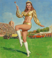 Gil Elvgren (American, 1914-1980) Homecoming Queen, Napa Auto Parts calendar illustration Oil on can