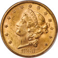 Liberty Double Eagles, 1868-S $20 MS62+ PCGS....