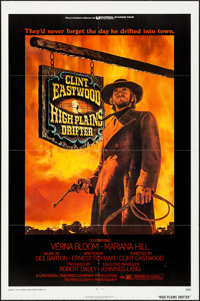 "High Plains Drifter (Universal, 1973). Folded, Very Fine. One Sheet (27"" X 41""). Ron Lesser Artwork. Western..."