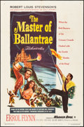 """Movie Posters:Swashbuckler, The Master of Ballantrae (Warner Brothers, 1953). Folded, Very Fine-. One Sheet (27"""" X 41""""). Swashbuckler.. ..."""