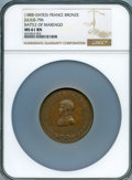 "France: Napoleon bronze ""Battle of Marengo"" Medal L'An 8 (1800) MS61 Brown NGC"
