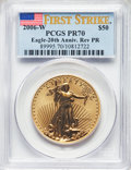 2006-W $50 One-Ounce Gold Reverse Proof, First Strike, PR70 PCGS. PCGS Population: (980). NGC Census: (0). PR70. Mintage...