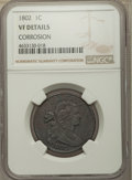 1802 1C -- Corrosion -- NGC Details. VF. NGC Census: (23/181). PCGS Population: (61/448). VF20. Mintage 3,435,100