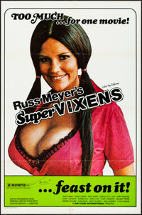 "Supervixens (RM Films, 1975). Folded, Very Fine-. Autographed One Sheet (27"" X 41""). Sexploitation"