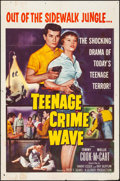 """Movie Posters:Exploitation, Teenage Crime Wave & Other Lot (Columbia, 1955). Folded,Overall: Fine/Very Fine. One Sheets (2) (27"""" X 41"""").Exploitation.... (Total: 2 Items)"""