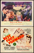 "Movie Posters:Musical, Best Foot Forward & Other Lot (MGM, 1943). Very Fine-. Title Lobby Card & Lobby Card (11"" X 14""). Musical.. ... (Total: 2 Items)"