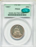 Proof Seated Quarters, 1887 25C PR64 PCGS. CAC. PCGS Population: (68/76). NGC Census: (69/85). PR64. Mintage 710. . From The William Rehwa...