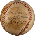 Baseball Collectibles:Balls, 1949 Joe DiMaggio & Joe Louis Dual-Signed Baseball....
