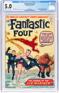 Silver Age (1956-1969):Superhero, Fantastic Four #4 (Marvel, 1962) CGC VG/FN 5.0 Off-white to whitepages....