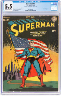Superman #24 (DC, 1943) CGC FN- 5.5 Off-white to white pages