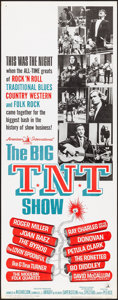 "Movie Posters:Rock and Roll, The Big T.N.T. Show (American International, 1966). Rolled, Very Fine. Insert (14"" X 36""). Rock and Roll.. ..."