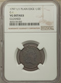 1797 1/2 C 1 Above 1, C-1, B-1, R.2, -- Cleaned -- NGC Details. VG. NGC Census: (0/0). PCGS Population: (3/13). VG8...
