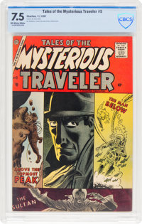 Tales of the Mysterious Traveler #5 (Charlton, 1957) CBCS VF- 7.5 Off-white to white pages