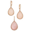 Estate Jewelry:Suites, Diamond, Rose Quartz, Mother-of-Pearl, Rose Gold Jewelry Suite,Sabrina Designs . ... (Total: 2 Items)