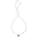 Estate Jewelry:Necklaces, Pink Spinel, Diamond, White Gold Necklace . ...