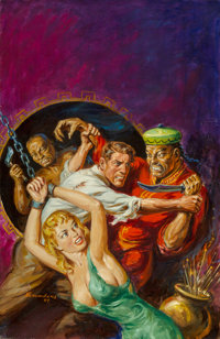 Norman Saunders (American, 1907-1989) Daring Rescue, unpublished book cover, 1981 Oil on canvas 2