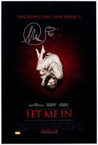 Let Me In Signed by Chloe Grace Moretz Poster (Celebrity Authentics, 2010)