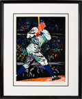 Baseball Collectibles:Others, 1995 Babe Ruth LeRoy Neiman Signed Serigraph....