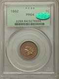 Proof Indian Cents, 1862 1C PR64 PCGS. CAC. PCGS Population: (147/115). NGC Census: (97/107). PR64. Mintage 550. . From The William Reh...