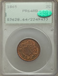 Proof Two Cent Pieces, 1865 2C PR64 Red and Brown PCGS. CAC. PCGS Population: (59/58). NGC Census: (22/43). CDN: $700 Whsle. Bid for problem-free ...