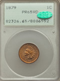 Proof Indian Cents, 1879 1C PR65 Red PCGS. CAC. PCGS Population: (42/39). NGC Census: (16/21). PR65. Mintage 3,200. . From The William ...