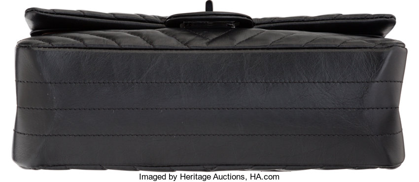 4ab3f316f7be Chanel So Black Aged Chevron Quilted Lambskin Leather 2.55 | Lot #58202 |  Heritage Auctions