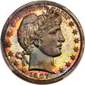 Proof Barber Half Dollars, 1907 50C PR67 PCGS....