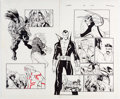 Original Comic Art:Panel Pages, Humberto Ramos and Carlos Cuevas Wolverine #48 Pages 12 and 13 Original Art (Marvel, 2007)....