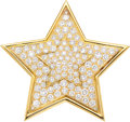 Estate Jewelry:Brooches - Pins, Diamond, Gold Pendant-Brooch, Van Cleef & Arpels, French. ...