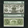 Canadian Currency, Montreal, PQ- Bank of Montreal $5 2.1.1895 Ch.# 505-44-02P Face and Back Proofs PMG Graded Uncirculated 62; Choice About U... (Total: 2 notes)