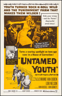 """Untamed Youth (Warner Brothers, 1957). Very Fine on Linen. One Sheet (27"""" X 41""""). Exploitation"""