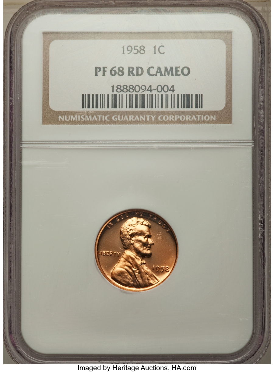 1958 1C PF Lincoln Cents, Wheat Reverse | NGC