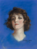 Mainstream Illustration, Haskell Coffin (American, 20th Century). Brunette Beauty. Pastel on board. 17 x 13 in. (sight). Signed lower left. T...