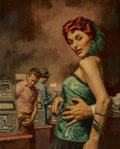 Mainstream Illustration, Stanley Borack (American, 1927-1993). Silver doll paperback cover, 1954. Oil on board. 13.25 x 13.75 in. (sight). Not si...