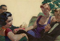 Edwin Georgi (American, 1896-1964) The Social Hour, probable Redbook Magazine interior illustration, ci