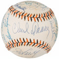 Autographs:Baseballs, 1993 Hall of Famers & Stars Multi-Signed 1993 All-Star Game Baseball from The Enos Slaughter Collection....