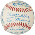 Autographs:Baseballs, 1960's Hall of Famers & Others Multi-Signed Baseball from TheEnos Slaughter Collection....