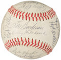 Autographs:Baseballs, 1960's Hall of Famers & Stars Signed Baseball from The EnosSlaughter Collection....
