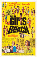 """Movie Posters:Rock and Roll, The Girls on the Beach (Paramount, 1965). Very Fine- on Linen. One Sheet (27"""" X 41""""). Rock and Roll.. ..."""