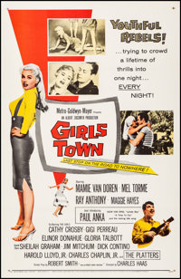 """Girls Town (MGM, 1959). Very Fine- on Linen. One Sheet (27"""" X 41.25""""). Bad Girl"""