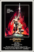 """Movie Posters:Action, Conan the Barbarian (Universal, 1982). Very Fine on Linen. One Sheet (27"""" X 41"""") Advance. Renato Casaro Artwork. Action.. ..."""