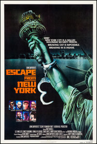"Escape from New York (Avco Embassy, 1981). Very Fine on Linen. One Sheet (27"" X 41"") Advance. Stan Watts Artwo..."