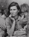 Photographs:Gelatin Silver, Dorothea Lange (American, 1895-1965). Migrant Mother, 1936. Gelatin silver, printed 1970s. 9-1/2 x 7-1/2 inches (24.1 x ...