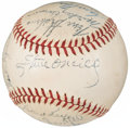 Autographs:Baseballs, 1946 American League All-Star Team Signed Baseball from The EnosSlaughter Collection....